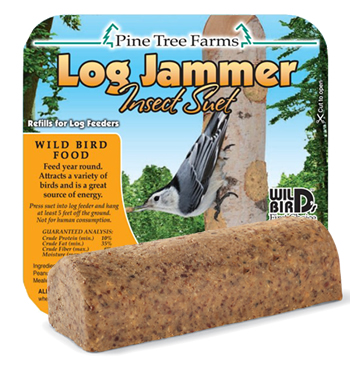 Log Jammer Insect, 12 Suet Plugs