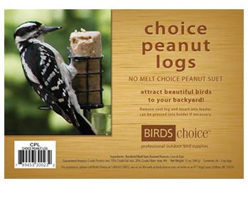 Peanut - 4 Suet Logs