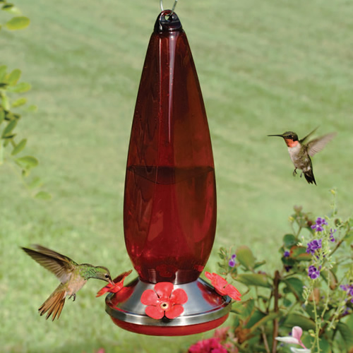 Red Prism Hummingbird Feeder