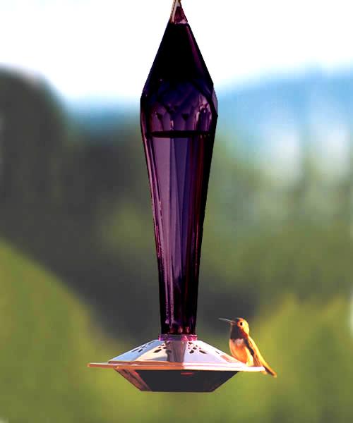 Dark Amethyst Hummingbird Feeder