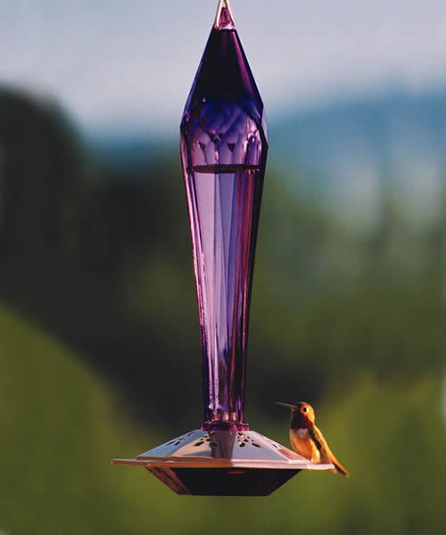 Amethyst Hummingbird Feeder