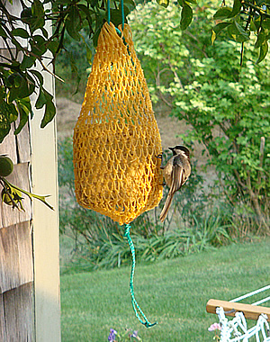 Hand Netted Suet Bag
