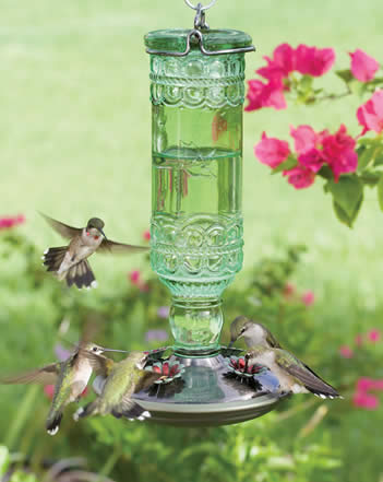 Antique Hummingbird Feeder