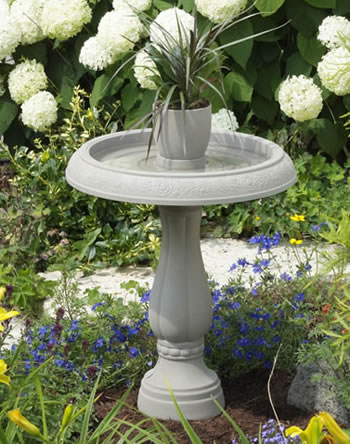 Duncraft Com Granite Flower Pot Bird Bath