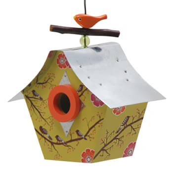 Singing Birds Retro Bird House