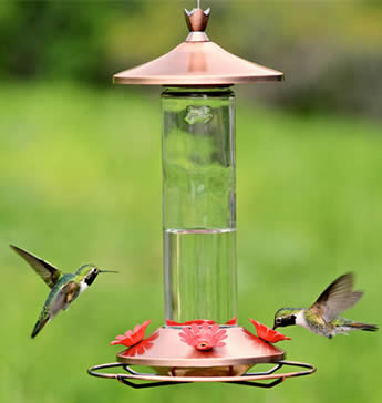 Brushed Metal Hummer Feeder