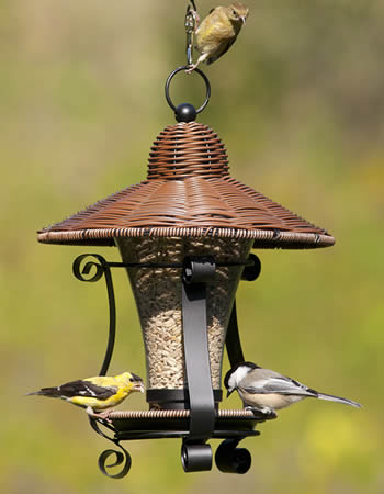 Wicker Lantern Feeder