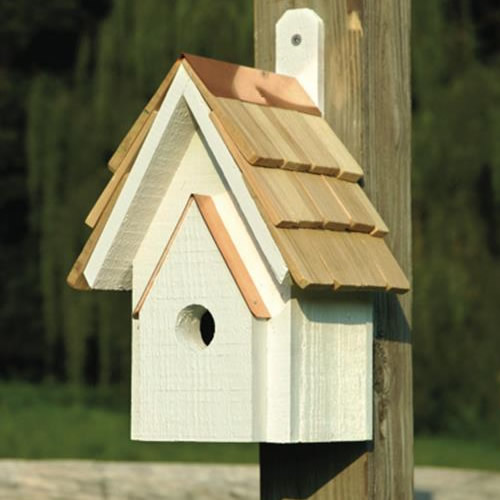 Classic bird house whitewashed for Classic bird houses