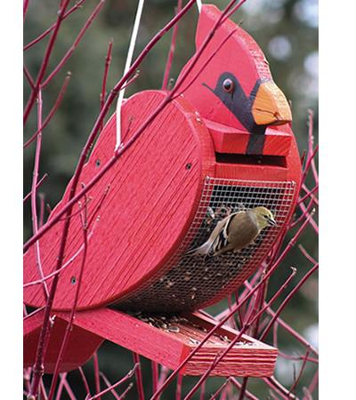 Cardinal Shape Bird Feeder