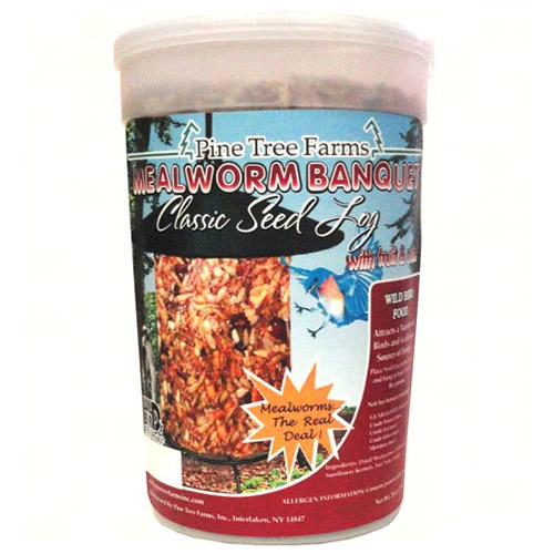Mealworm Banquet Classic Seed Log, Regular