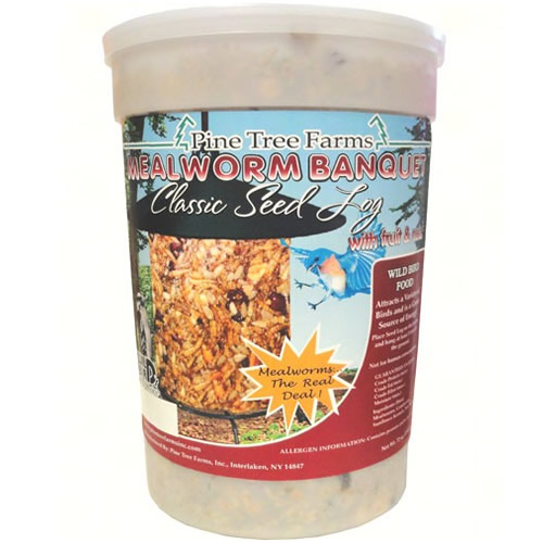 Mealworm Banquet Classic Seed Log, Jumbo