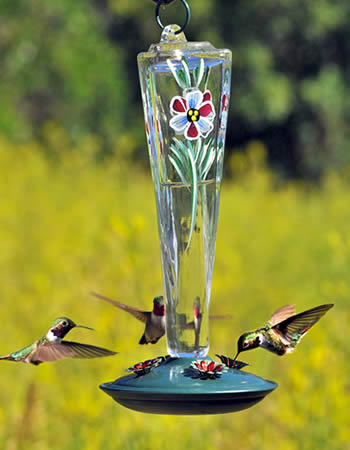 Violet Meadow Hummer Feeder