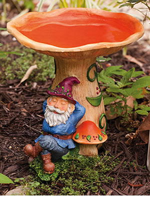 Duncraft Com Resting Gnome Bird Bath