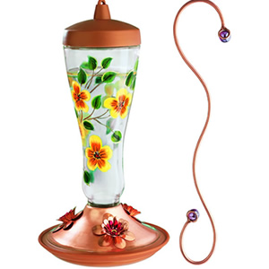 Floral Hummingbird Feeder