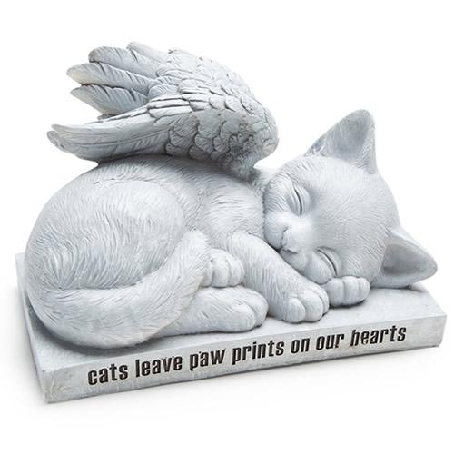 """11"""" Angel Cat Memorial"""
