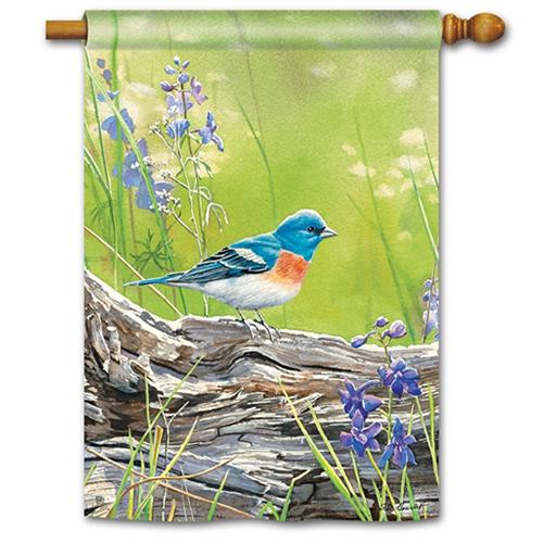 Meadow Bluebird Standard Flag