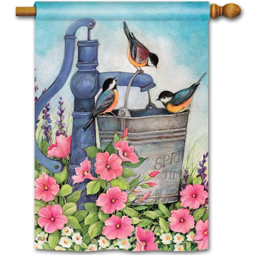 Birds of Spring Standard Flag