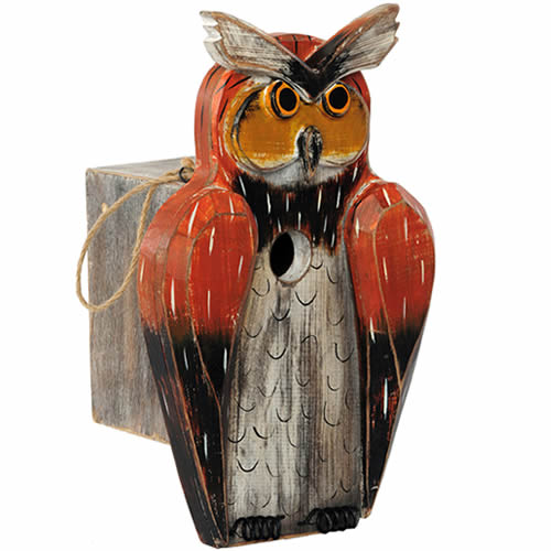 Horned Owl Bird House