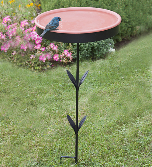 Ground Stake Bird Bath