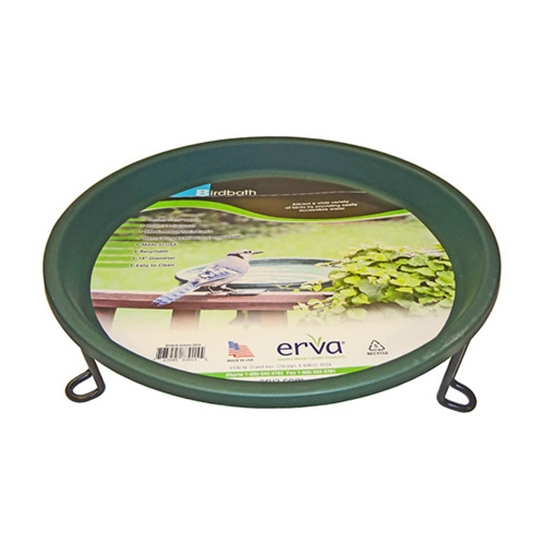 Ground Level Bird Bath - Green