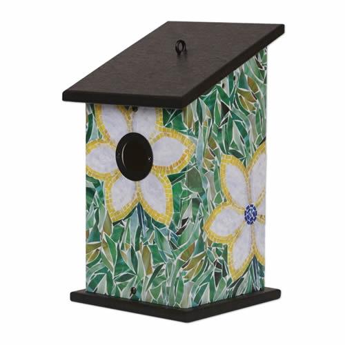 Flower Mosaic Birdhouse