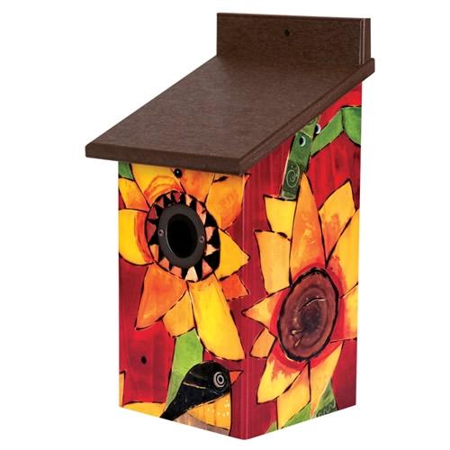 Sunflower Delight Birdhouse