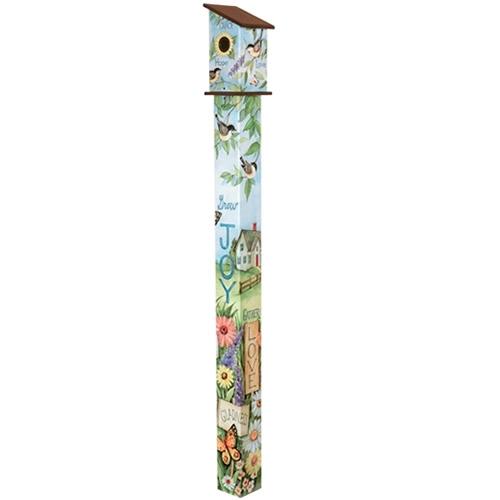 Nest Blessings 6 Birdhouse Art Pole