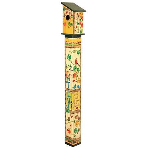 Fly with All Your Heart 5 Birdhouse Art Pole