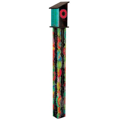 Color Dance 5' Birdhouse Art Pole
