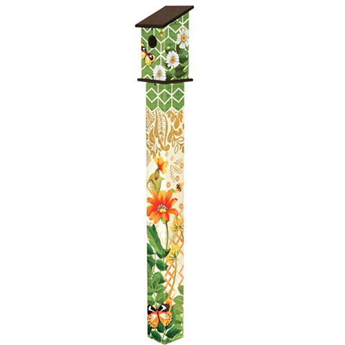 Fancy Garden 5 Birdhouse Art Pole