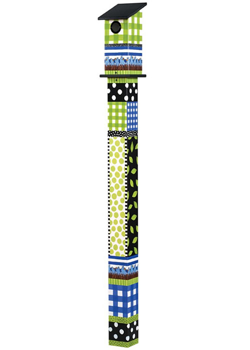 Gingham Birdies 5' Bluebird House Art Pole (BP1008 Magnet Works, Ltd) photo