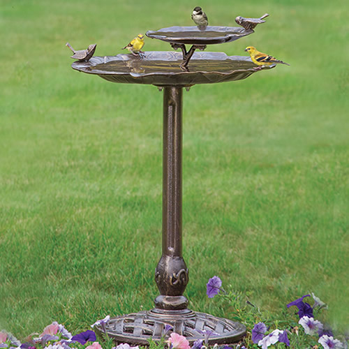 2-Tier Lily Pad Birdbath - SOLD OUT -