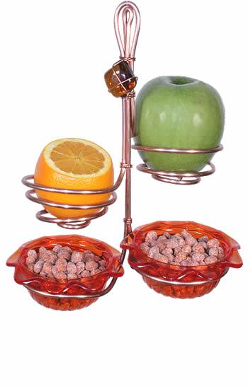 Orange Double Jelly Fruit Holder