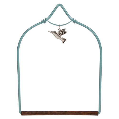 Charmed Teal Hummingbird Swing