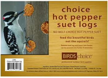 Hot Pepper, 4 Suet Logs