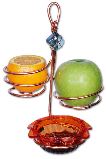 Copper Orange Jelly Fruit Holder