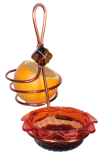 Orange Single Cup Fruit Feeder