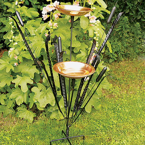 Achla Double Cattail Bird Bath