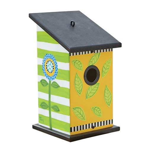 Frolic Leaf Flower Pop Birdhouse
