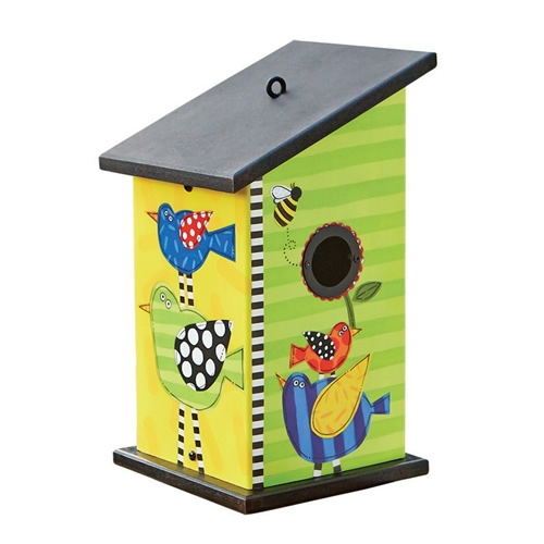 Frolic Stacked Birds Birdhouse