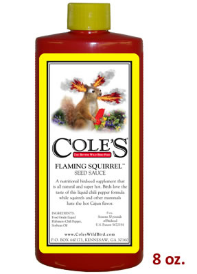 Cole's Flaming Squirrel Seed Sauce, 8 oz.
