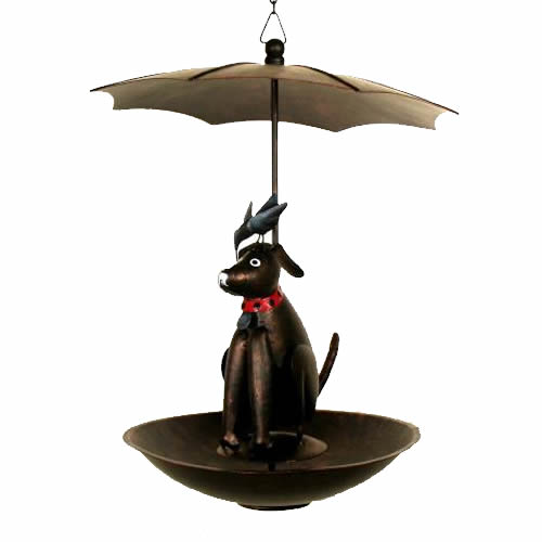 Black Lab Bistro Bird Feeder