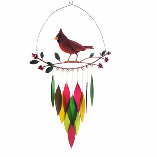 Cardinal on a Branch Chime