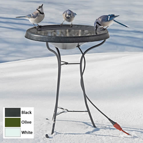 Pedestal Heated Bird Bath