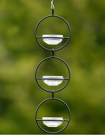 Triple Sphere Hanging Dish Feeder