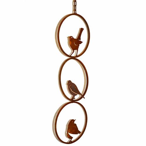Rustic Triple Ring Bird Mobile