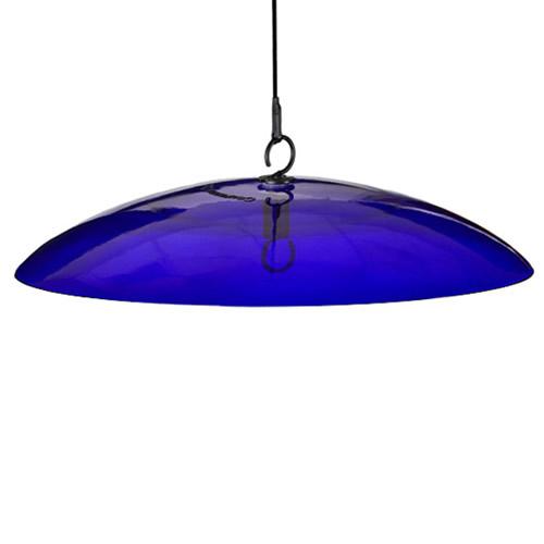 "15"" Glass Baffle Weather Dome Cobalt Blue"