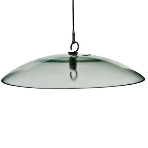 "15"" Glass Baffle Weather Dome"