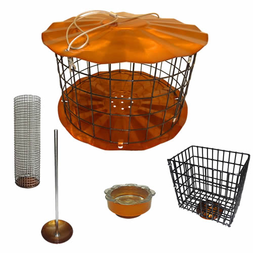 Copper Squirrel Proof Barrier Multi Feeder Set