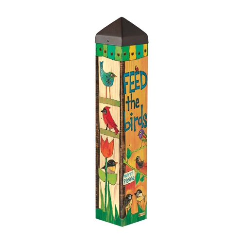 "Feed the Birds 20"" Art Pole 4x4"